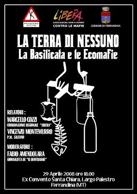 """""""La terra di nessuno"""" – La Basilicata e le ecomafie"""