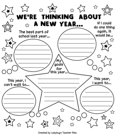 New Year 2016 Resolution Activities For Elementary
