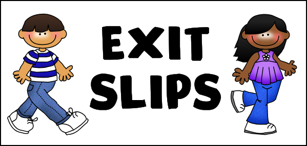 exit ticket clipart - photo #12