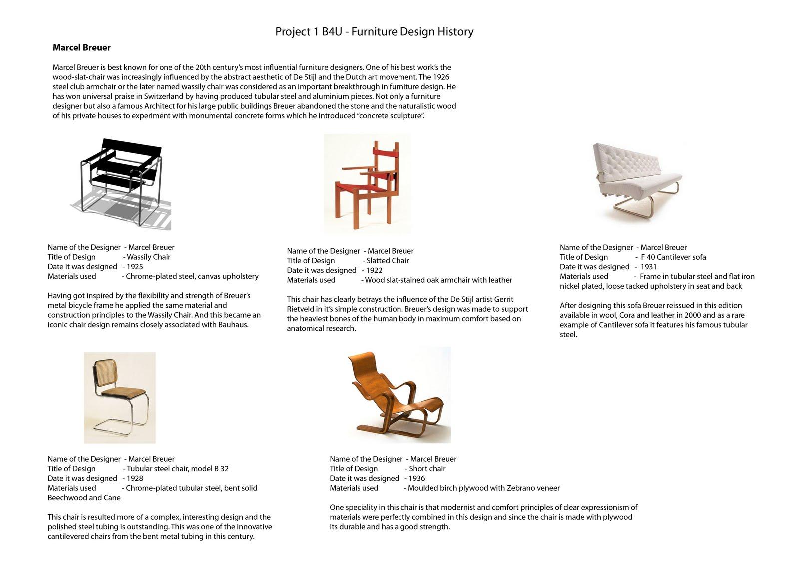 Furniture 1b4u Design History Pg 1
