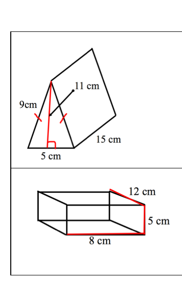 Sargent Park Math Zone: Surface Area Test Practice