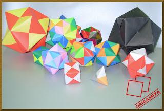 origami dobradura kusudama sonobe