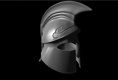 3d Model of my new spartan helmet, shaded