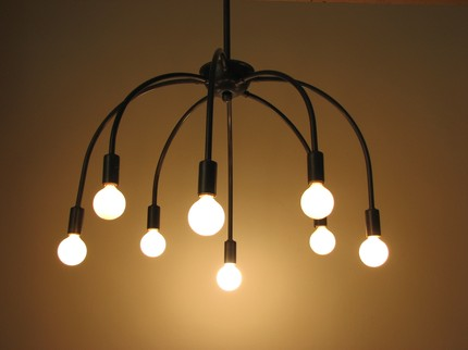 The Vintage Minimalist Ring Chandelier Is Basic But Not Boring Carbon Filament Bulbs Are Both Urban And Old Fashioned