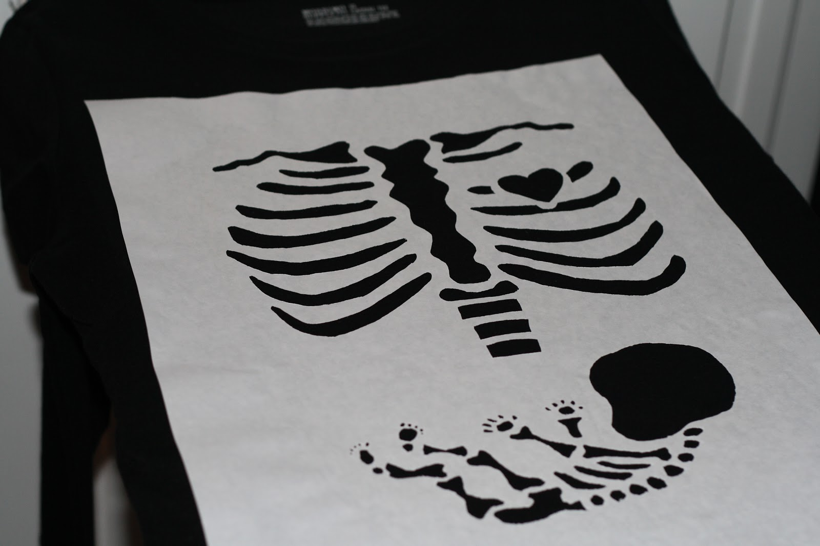 Keeping My Cents Halloween Skeleton And Baby Maternity Shirt Tutorial