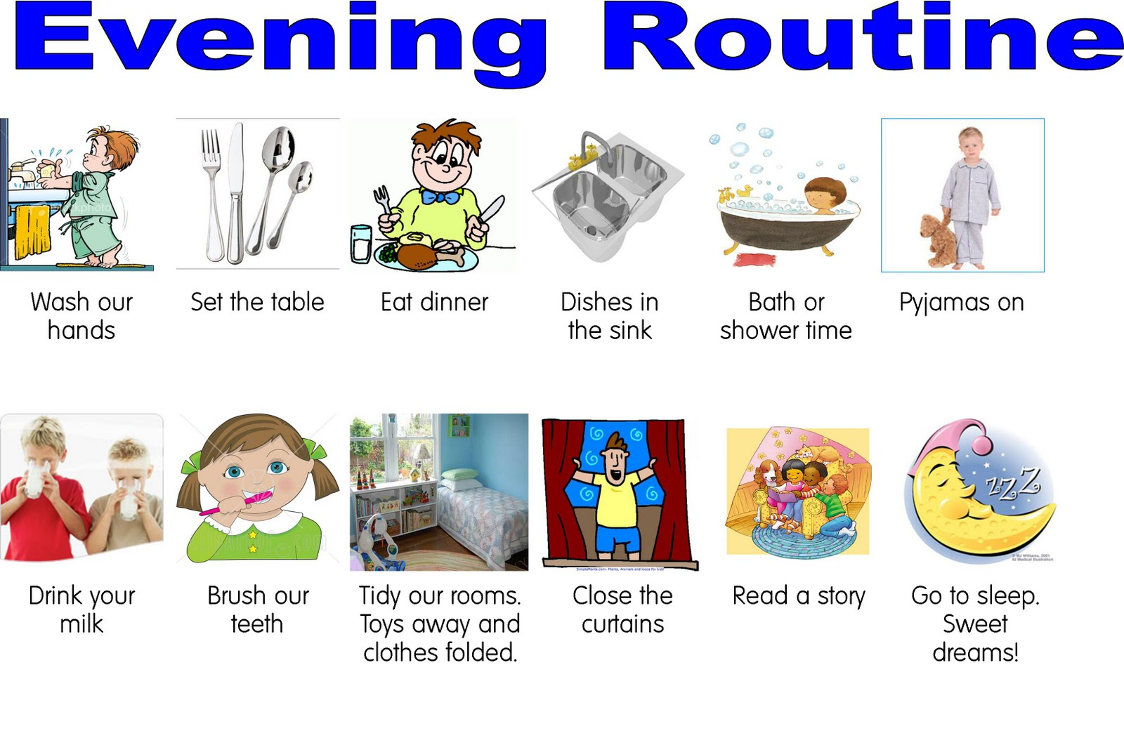 Kids Daily Routine Worksheet