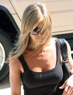 aniston nipples Jennifer see through