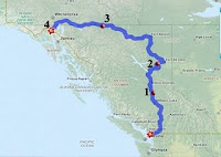 Road Map Bellingham WA to Skagway AK