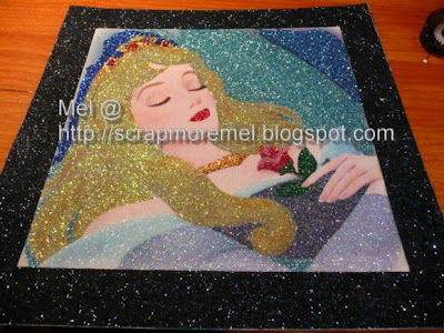Disney's Sleeping Beauty glitter art by mel