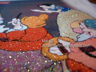 Disney's Snow White glitter art by mel
