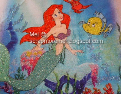 Disney's Ariel glitter art by mel