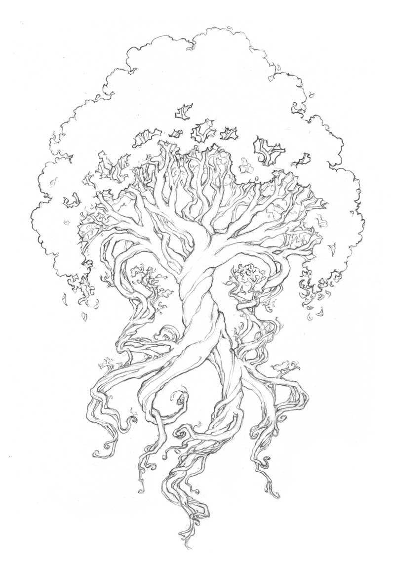 abstract trees coloring pages - photo#39