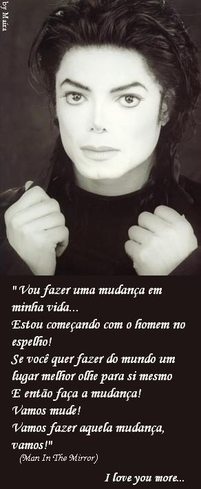 636bdc24311 Michael - I Love You More L.O.V.E  O homem no espelho...