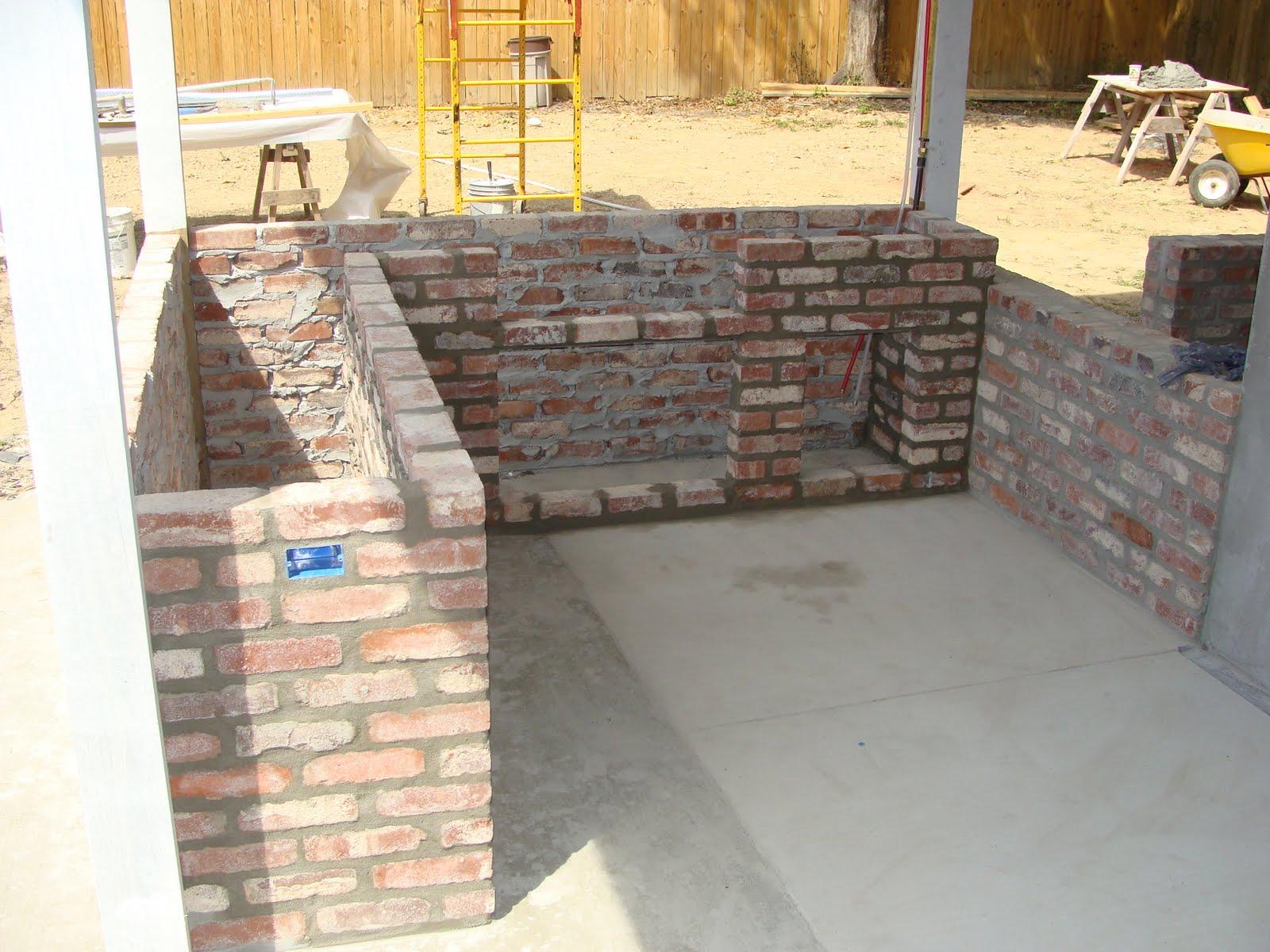The Ross\': Painted brick, outdoor kitchen, backdoor...YEAH!