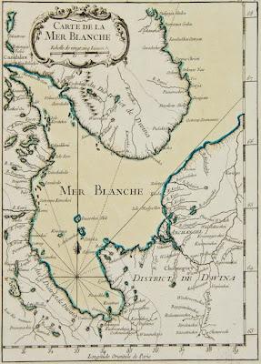 Carte Europe Blanche.Antique Maps Europe Carte De La Mer Blanche