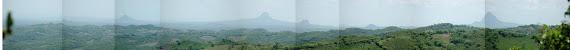 Panorámica de cinco de los siete cerros