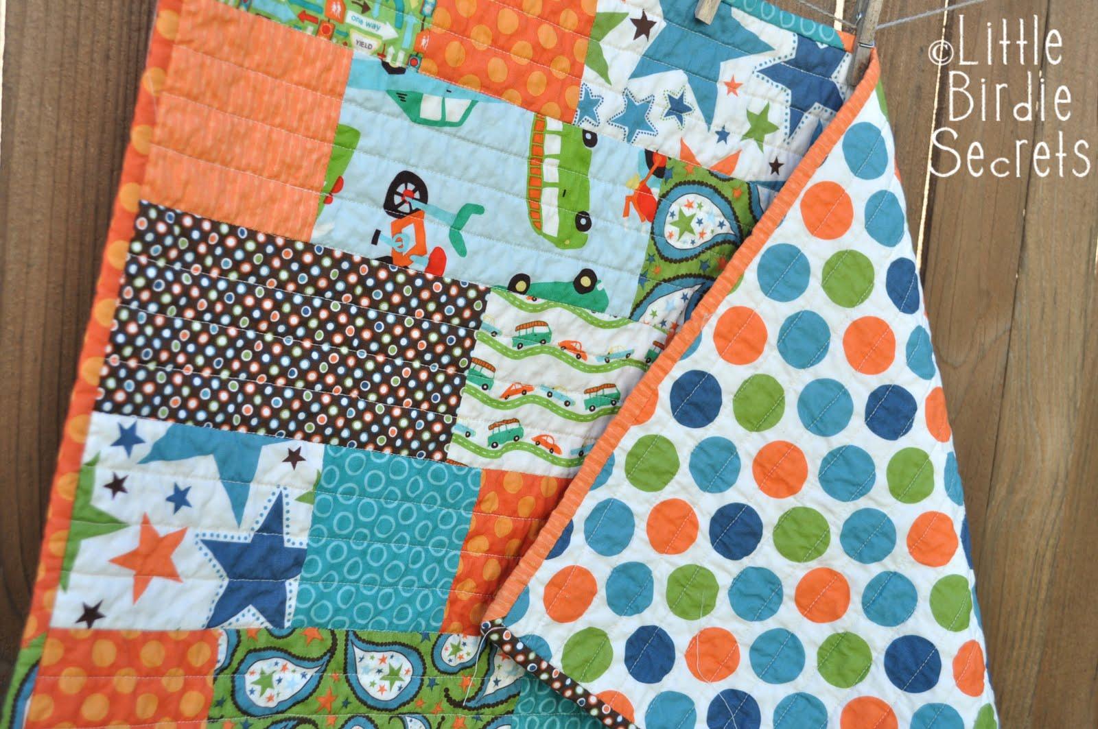 quick and easy baby quilt | Little Birdie Secrets