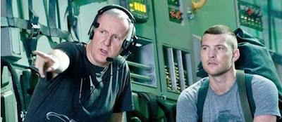 James Cameron dando instrucciones a Sam Worthington durante el rodaje de Avatar