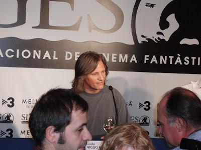 Viggo Mortensen durante la rueda de prensa de The Road en Sitges 2009