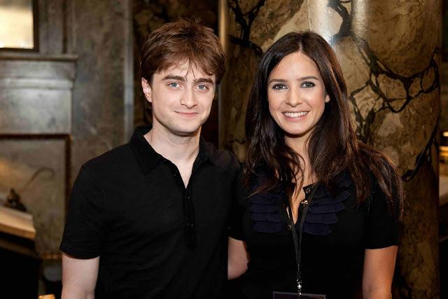 Paula Prendes junto a Daniel Radcliffe