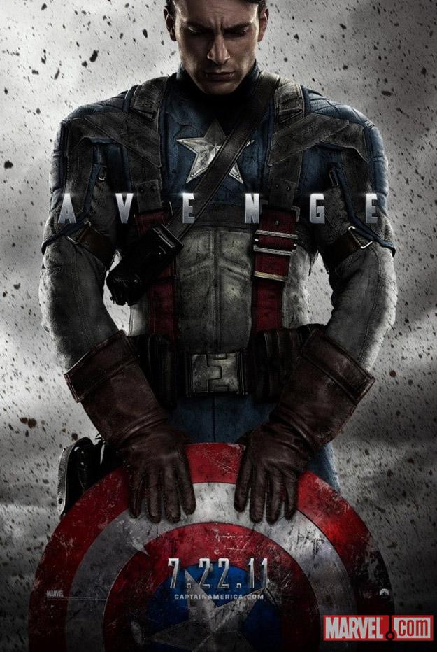Primer poster de Capitán América: El primer Vengador