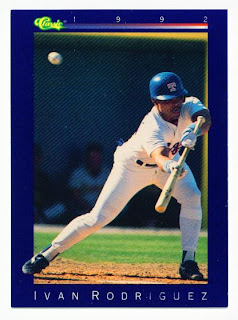 Texas Rangers Cards 1992 Classic Game Ivan Rodriguez