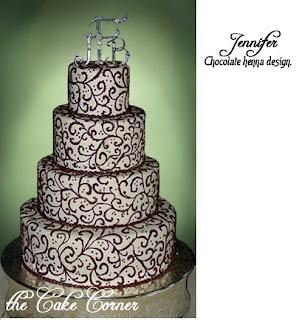 Henna Cake Design