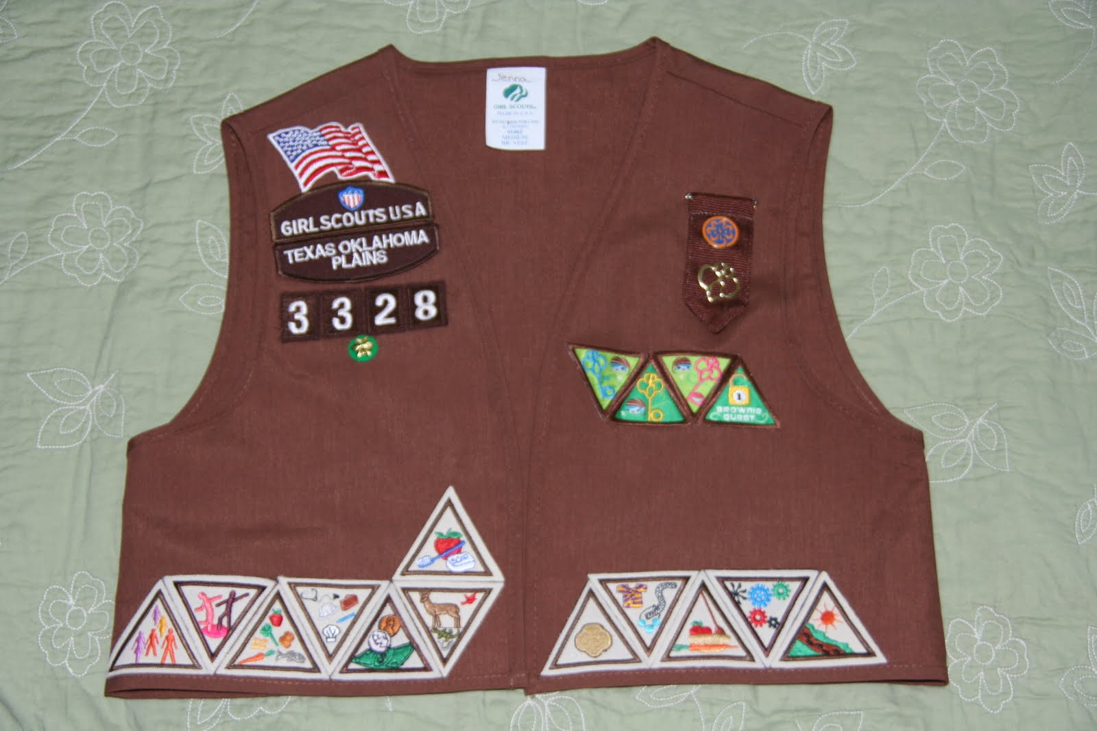 brownie sash diagram 3d plant cell for 7th graders girl scout vest patch placement blogsboom