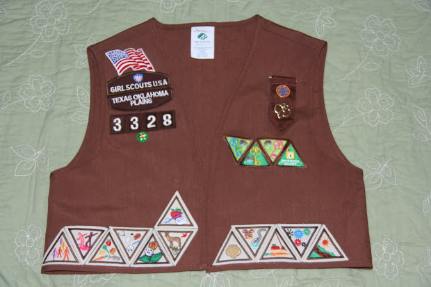 patch placement on brownie vest