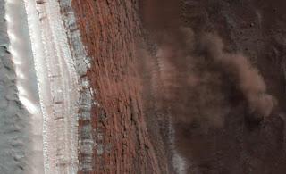 Avalanchas en Marte