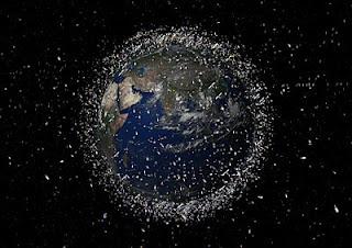 Desechos en órbita baja terrestre (LEO)