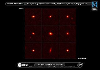 Galaxias compactas en el Universo distante por Hubble