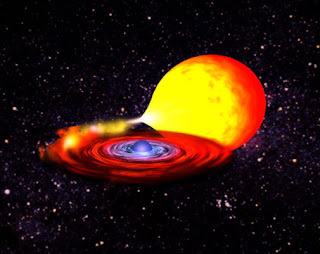 Ilustración de una explosión estelar