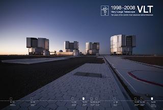 ESO PR Photo 16a/08:Poster del 10 aniversario de VLT