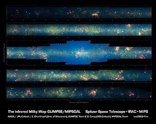 La Vía Láctea por Spitzer