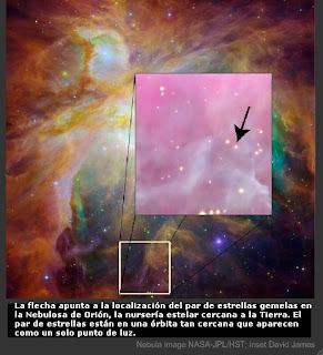Gemelas Par 1802 en la Nebulosa de Orión