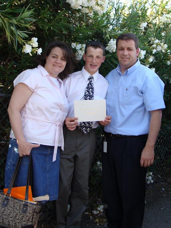 Braden graduates middle school