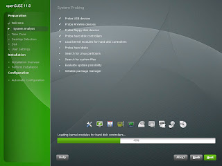 Open SUSE Installer Resembles Windows Vista Installer