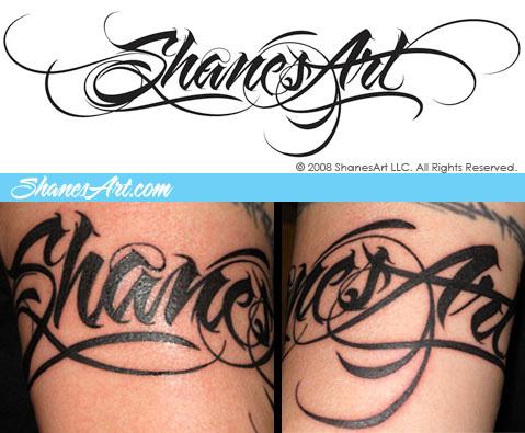 Chinese Tattoo F...U Letter Design Tattoo