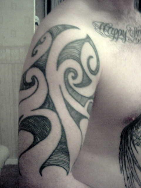 e9a09d997 Harley davidson In Tattoos: Tribal Arm Sleeve Design