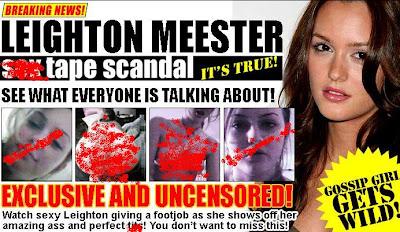 leighton meester scandal
