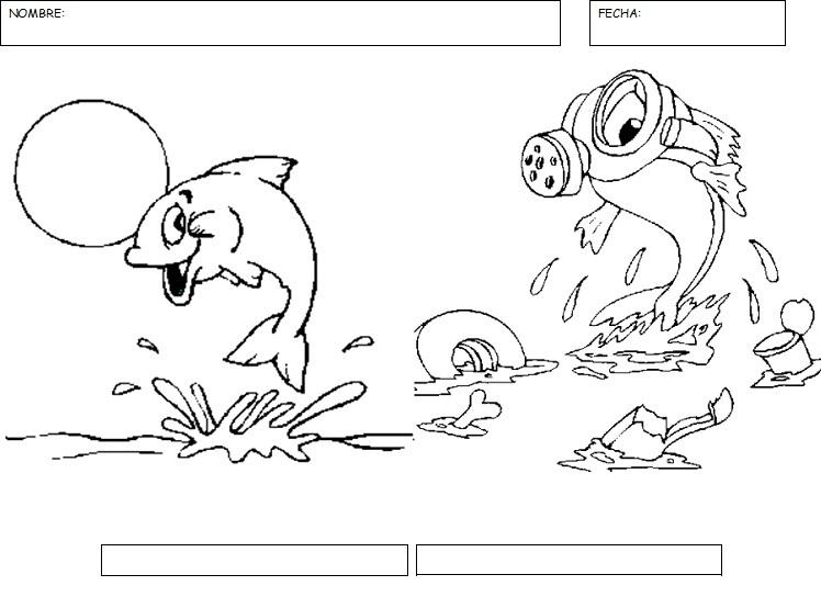 Dibujos Para Colorear Del Agua Para Ninos: Dibujos Para Coloriar Dia De La Contaminacion Del Agua