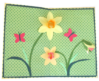 daffodil pop up card