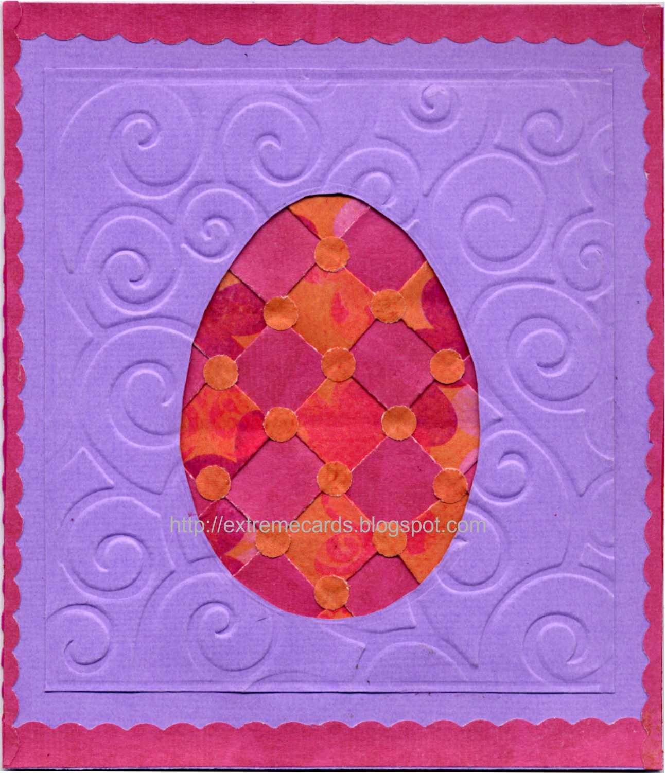 quilted egg easter card
