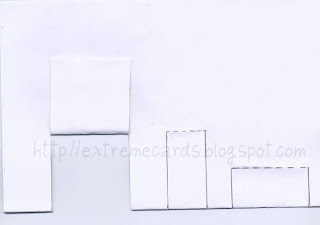 simple box pop up card crease flaps