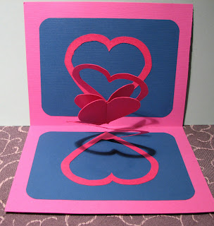 spiral heart pop up card valentine