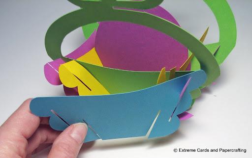 tulip sliceform basket assembly