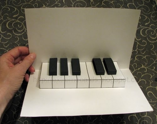 extreme cards and papercrafting easy piano pop up card