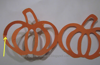 pumpkin paper chain wreath