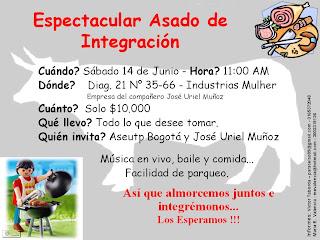 Aseutp Bogotá Invitación Asado Aseutp Bogotá
